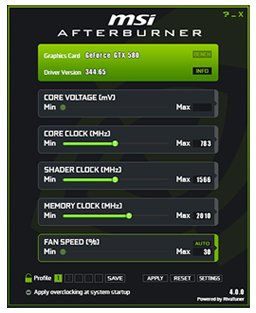Monitoring Your GPU With MSI Afterburner – MSI Afterburner